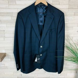 HUGO BOSS NWT Men's Janson Wool Check Blazer $595